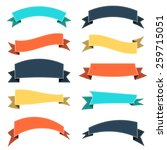 set of colored ribbons  vector... | Shutterstock .eps vector #259715051