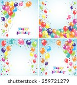 color beautiful party balloons  ... | Shutterstock .eps vector #259721279
