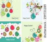 template easter greeting card ... | Shutterstock .eps vector #259721285