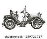 car retro vector logo design... | Shutterstock .eps vector #259721717