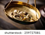 gold  rush  nugget. | Shutterstock . vector #259727081