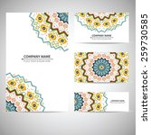 business card template. vector... | Shutterstock .eps vector #259730585