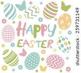 happy easter card   Shutterstock .eps vector #259731149