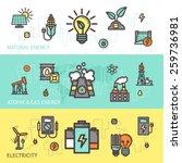energy horizontal banner set... | Shutterstock .eps vector #259736981
