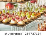 table setting for an wedding... | Shutterstock . vector #259737194