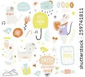 romantic and lovely print... | Shutterstock .eps vector #259741811