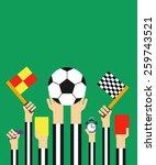 flat style design.football...   Shutterstock .eps vector #259743521