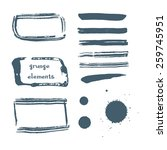 sea style watercolor brush... | Shutterstock .eps vector #259745951
