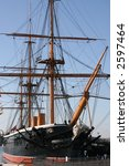 hms warrior   masts