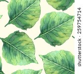 seamless pattern with foliage.... | Shutterstock .eps vector #259754714