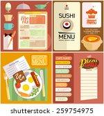 flat design restaurant menu ...