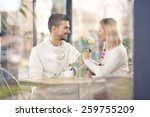 young couple on a romantic date ... | Shutterstock . vector #259755209