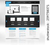 clean modern website template...
