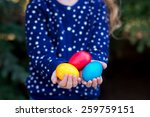 different color easter eggs in... | Shutterstock . vector #259759151