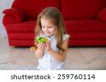 beautiful little girl baby... | Shutterstock . vector #259760114