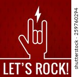rock and roll sign | Shutterstock .eps vector #259760294