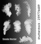 Smoke Vectors On Transparent...