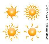 vector sun symbol | Shutterstock .eps vector #259777274