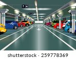 underground parking with cars.... | Shutterstock .eps vector #259778369