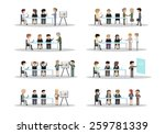 business people  different... | Shutterstock .eps vector #259781339