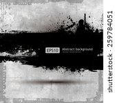grunge banner with an inky... | Shutterstock .eps vector #259784051