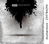grunge banner with an inky... | Shutterstock .eps vector #259784294