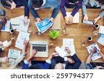 group of business people in a... | Shutterstock . vector #259794377