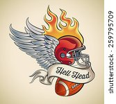 american football tattoo design ... | Shutterstock .eps vector #259795709