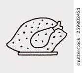 doodle turkey meal   Shutterstock . vector #259803431