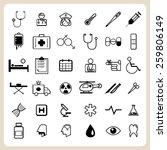 medical icons set illustration... | Shutterstock .eps vector #259806149