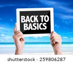 tablet pc with text back to... | Shutterstock . vector #259806287