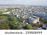 landscape hakodate city visible ... | Shutterstock . vector #259808999