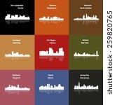 set of 9 city   buffalo  fort... | Shutterstock .eps vector #259820765