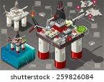 isometric oil infographic gas...   Shutterstock .eps vector #259826084