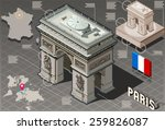 arc de triomphe in paris... | Shutterstock .eps vector #259826087