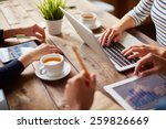 people using different devices... | Shutterstock . vector #259826669