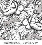 seamless pattern rose branch...   Shutterstock .eps vector #259837949