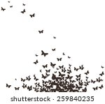 butterflies black design | Shutterstock . vector #259840235