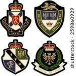 classic heraldic royal emblem... | Shutterstock .eps vector #259860929