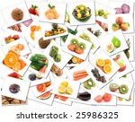 mix of fruit and vegetable... | Shutterstock . vector #25986325