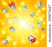 a gift present box and star...   Shutterstock .eps vector #259873667