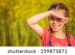 little smiling beautiful girl... | Shutterstock . vector #259873871