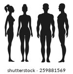 front and side view silhouettes ... | Shutterstock . vector #259881569