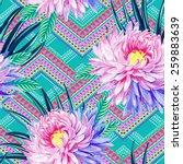 seamless vector aztec tribal... | Shutterstock .eps vector #259883639