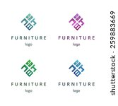 furniture logo design concept.... | Shutterstock .eps vector #259883669