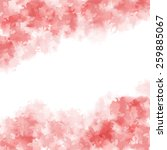 abstract pink watercolor... | Shutterstock .eps vector #259885067