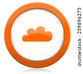 Cloud Orange Icon Waether...