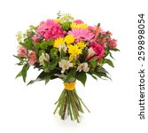 bouquet made of  alstroemeria ... | Shutterstock . vector #259898054
