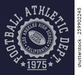 athletic football typography  t ... | Shutterstock .eps vector #259902245
