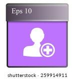flat icon of add friend | Shutterstock .eps vector #259914911